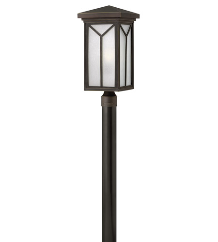 Hinkley 1991OZ Drake 1 Light 21 inch Oil Rubbed Bronze Post Lantern in Incandescent, Post Sold Separately photo
