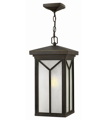 Hinkley Lighting Drake 1 Light Outdoor Hanger in Oil Rubbed Bronze 1992OZ-GU24