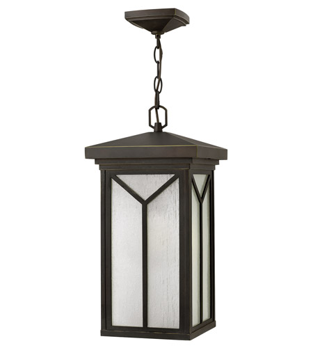 Hinkley Lighting Drake 1 Light Outdoor Hanger in Oil Rubbed Bronze 1992OZ