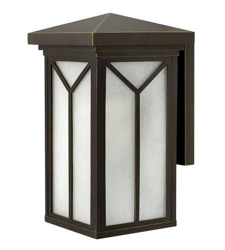 Hinkley Lighting Drake 1 Light Outdoor Wall in Oil Rubbed Bronze 1994OZ