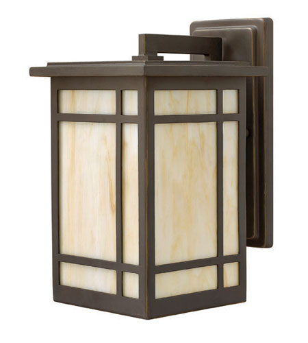 Hinkley Lighting Parkside 1 Light Outdoor Wall Lantern in Oil Rubbed Bronze 2000OZ-LED