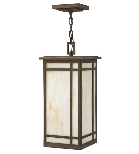 Hinkley Lighting Parkside 1 Light Outdoor Hanging Lantern in Oil Rubbed Bronze 2002OZ-ES photo