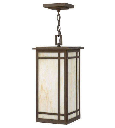 Hinkley Lighting Parkside 1 Light Outdoor Hanging Lantern in Oil Rubbed Bronze 2002OZ-LED
