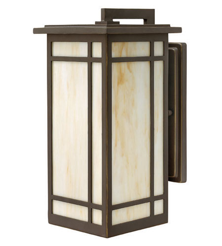 Hinkley Lighting Parkside 1 Light Outdoor Wall Lantern in Oil Rubbed Bronze 2004OZ-LED