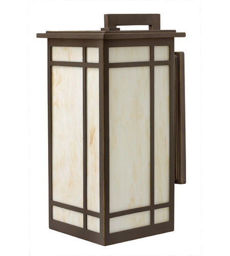 Hinkley Lighting Parkside 1 Light Outdoor Wall Lantern in Oil Rubbed Bronze 2005OZ-LED