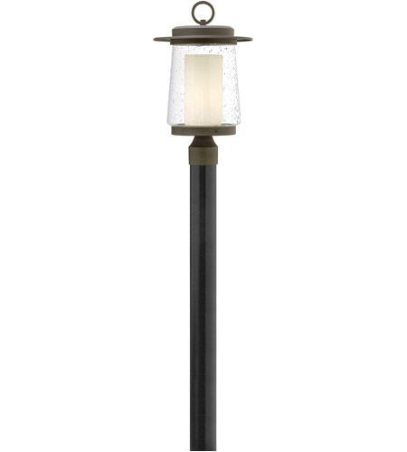 Hinkley 2011OZ Riley 1 Light 19 inch Oil Rubbed Bronze Outdoor Post Mount in Incandescent, Clear Seedy and Etched Opal, Seedy Outer/Etched Opal Inner Glass photo
