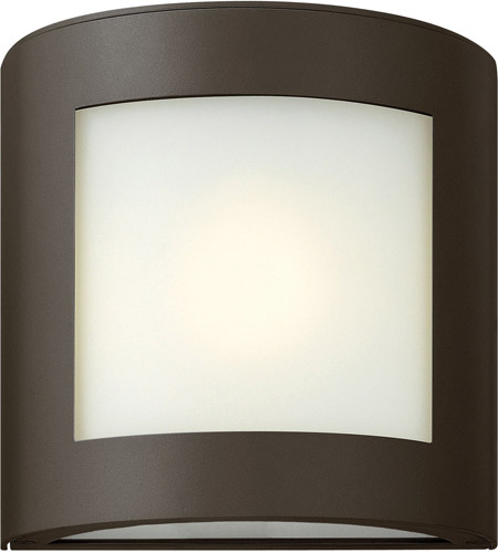 Hinkley 2020BZ Solara 1 Light 9 inch Bronze Outdoor Wall Lantern in Inside-White Etched, Incandescent photo