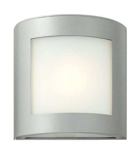 Hinkley Lighting Solara 1 Light Outdoor Wall Lantern in Titanium 2020TT-ES