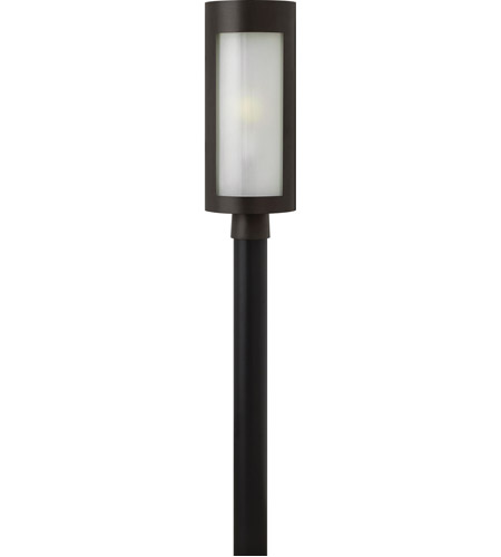 Hinkley 2021BZ Solara 1 Light 21 inch Bronze Post Lantern in Etched Painted White Inside, Incandescent, Post Sold Separately photo