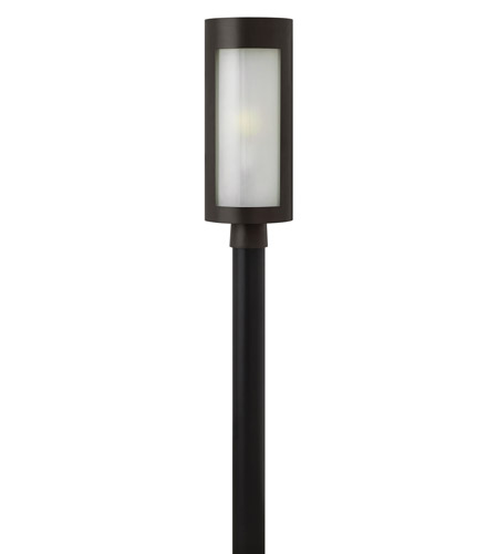 Hinkley 2021BZ-LED Solara 1 Light 21 inch Bronze Post Lantern in Inside White Etched, LED, Inside White Etched Glass photo