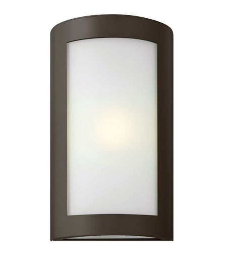Hinkley 2024BZ-LED Solara 1 Light 16 inch Bronze Outdoor Wall Lantern in Inside White Etched, LED, Inside White Etched Glass photo