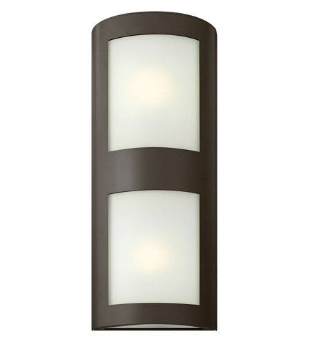Hinkley 2025BZ-GU24 Solara 1 Light 22 inch Bronze Outdoor Wall in Inside-White Etched, GU24 photo