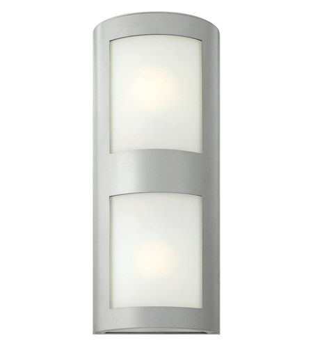 Hinkley 2025TT-GU24 Solara 1 Light 22 inch Titanium Outdoor Wall in Inside-White Etched, GU24 photo