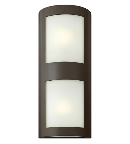 Hinkley 2025BZ-LED Solara 2 Light 22 inch Bronze Outdoor Wall Lantern in Inside White Etched, LED, Inside White Etched Glass photo