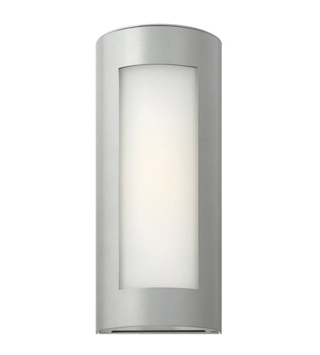 Hinkley Lighting Solara 1 Light GU24 CFL Outdoor Wall in Titanium 2026TT-GU24