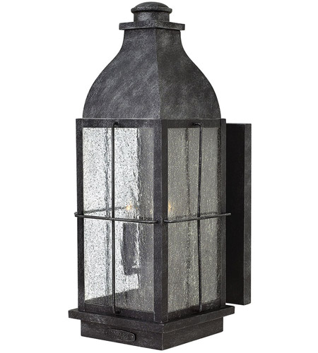 Hinkley 2045GS Bingham 3 Light 21 inch Greystone Outdoor Wall, Clear Seedy Glass photo