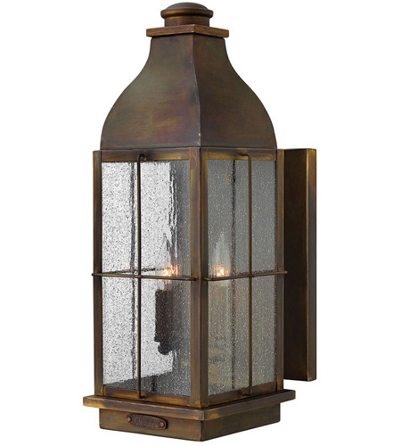 Hinkley 2045SN Bingham 3 Light 21 inch Sienna Outdoor Wall Lantern, Clear Seedy Glass photo