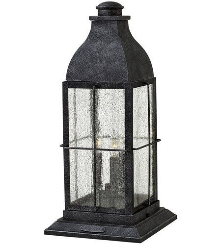 Hinkley Lighting Bingham 3 Light Pier Mount Head in Greystone 2047GS