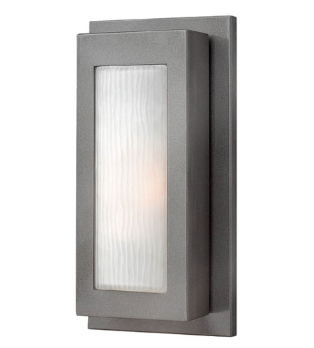 Hinkley Lighting Titan 1 Light Outdoor Wall Lantern in Hematite 2050HE-ES