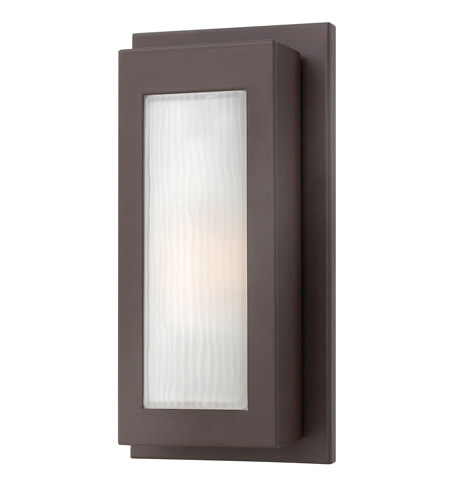 Hinkley 2050KZ-GU24 Titan 1 Light 14 inch Buckeye Bronze Outdoor Wall in GU24, Etched Glass photo
