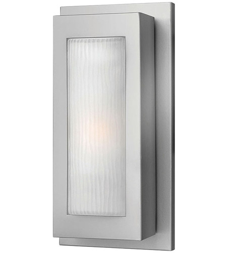 Hinkley Lighting Titan 1 Light Outdoor Wall Lantern in Titanium 2050TT