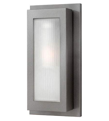 Hinkley Lighting Titan 1 Light Outdoor Wall Lantern in Hematite 2054HE-ES