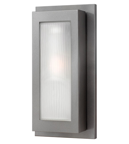 Hinkley Lighting Titan 1 Light GU24 CFL Outdoor Wall in Hematite 2054HE-GU24 photo