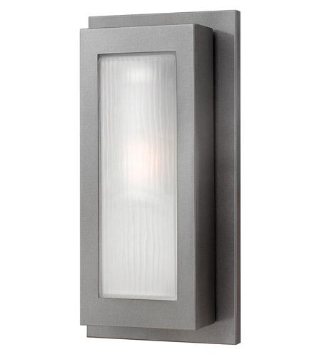 Hinkley Lighting Titan 1 Light Outdoor Wall Lantern in Hematite 2054HE