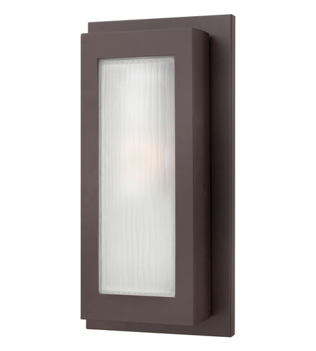 Hinkley 2054KZ-GU24 Titan 1 Light 18 inch Buckeye Bronze Outdoor Wall in GU24, Etched Glass photo