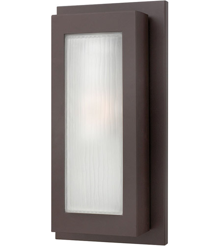 Hinkley 2054KZ Titan 1 Light 18 inch Buckeye Bronze Outdoor Wall Lantern in Incandescent photo