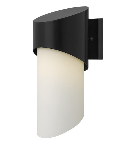 Hinkley 2060SK Solo 1 Light 14 inch Satin Black Outdoor Wall in Incandescent photo