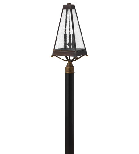 Hinkley Lighting Valley Forge 3 Light Post Lantern (Post Sold Separately) in Sienna 2071SN