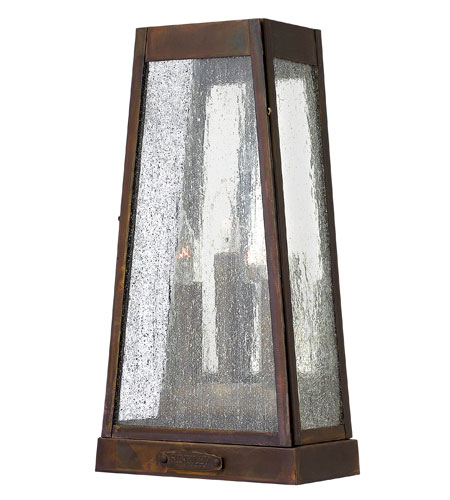 Hinkley Lighting Valley Forge 3 Light Outdoor Wall in Sienna 2074SN