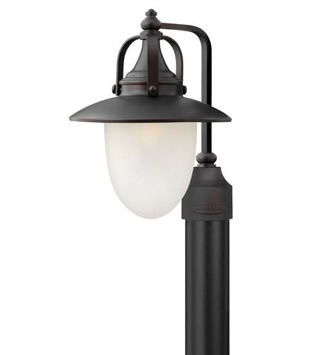 Hinkley 2081SB Pembrook 1 Light 18 inch Spanish Bronze Post Lantern in Incandescent, Etched Opal Glass, Post Sold Separately photo