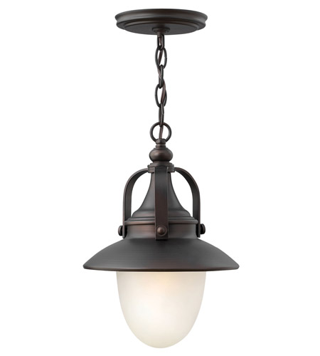Hinkley Lighting Pembrook 1 Light Outdoor Hanging Lantern in Spanish Bronze 2082SB-LED photo