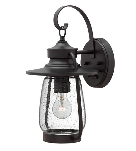 Hinkley 2090SB-LED Calistoga 1 Light 16 inch Spanish Bronze Outdoor Wall Lantern in LED, Clear Seedy Glass photo