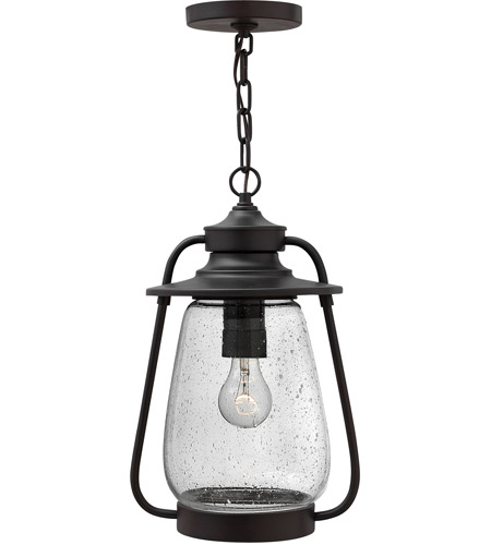 Hinkley 2092SB Calistoga 1 Light 10 inch Spanish Bronze Outdoor Hanging Lantern in Incandescent photo
