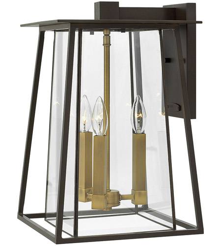 Hinkley 2105KZ Walker 3 Light 18 inch Buckeye Bronze Outdoor Wall Mount, Clear Glass photo