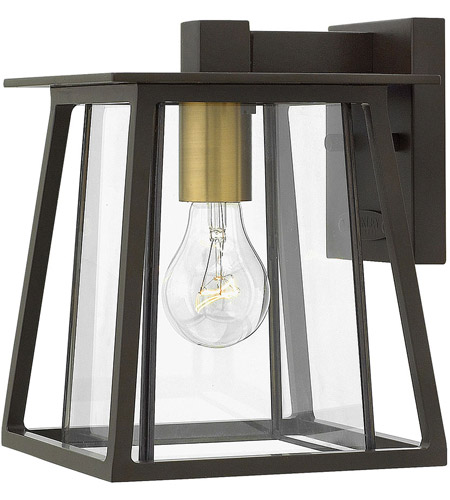 Hinkley 2106KZ Walker 1 Light 10 inch Buckeye Bronze Outdoor Mini Wall Mount, Clear Glass photo