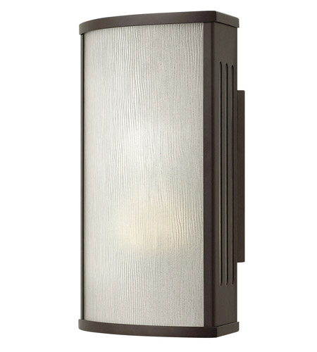 Hinkley 2110BZ-GU24 District 1 Light 12 inch Bronze Outdoor Wall in GU24, Rain Glass photo