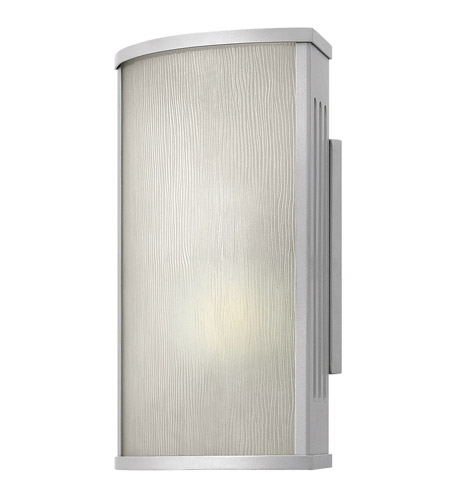 Hinkley 2110TT District 1 Light 12 inch Titanium Outdoor Wall in Incandescent, Rain Glass photo