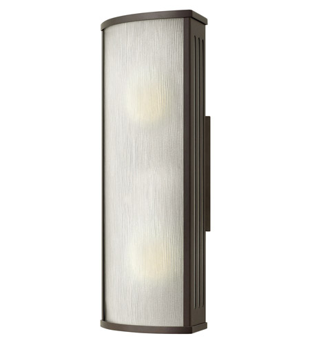 Hinkley 2114BZ-GU24 District 1 Light 18 inch Bronze Outdoor Wall in GU24, Rain Glass photo