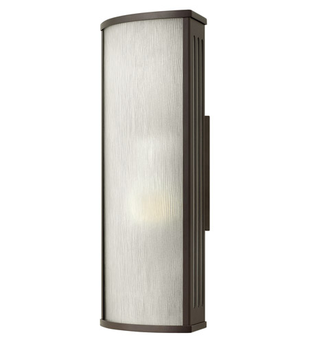Hinkley 2114BZ District 1 Light 18 inch Bronze Outdoor Wall in Incandescent, Rain Glass photo
