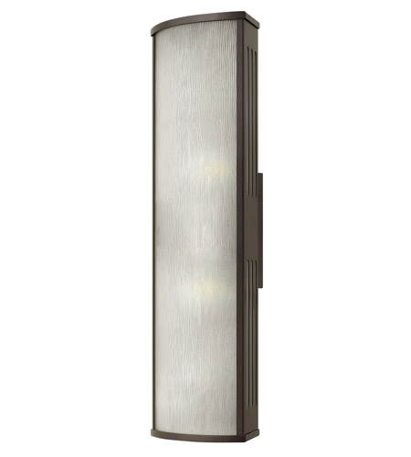 Hinkley 2115BZ-GU24 District 1 Light 24 inch Bronze Outdoor Wall in GU24, Rain Glass photo