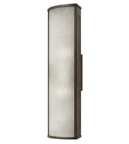 Hinkley 2115BZ District 2 Light 24 inch Bronze Outdoor Wall in Incandescent, Rain Glass photo