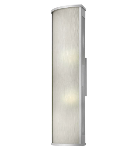 Hinkley 2115TT District 2 Light 24 inch Titanium Outdoor Wall in Incandescent, Rain Glass photo