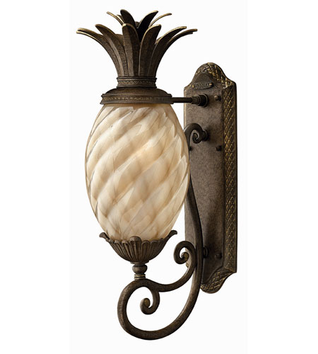 Hinkley 2120PZ-ES Plantation 1 Light 22 inch Pearl Bronze Outdoor Wall Lantern photo