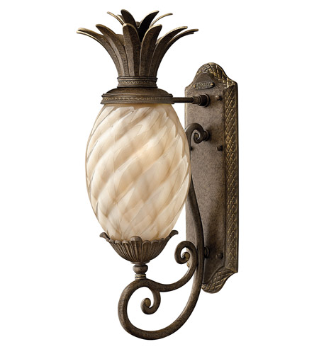 Hinkley 2120PZ-GU24 Plantation 1 Light 22 inch Pearl Bronze Outdoor Wall in GU24 photo