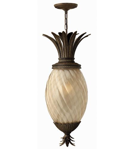 Hinkley Lighting Plantation 1 Light Outdoor Hanging Lantern in Pearl Bronze 2122PZ-ES