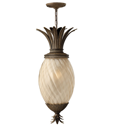 Hinkley 2122PZ-GU24 Plantation 1 Light 13 inch Pearl Bronze Outdoor Hanging in GU24 photo